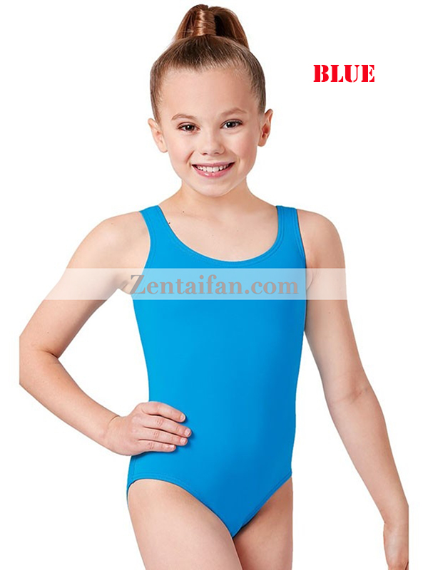 Kids Sleeveless Spandx Zentai Leotard
