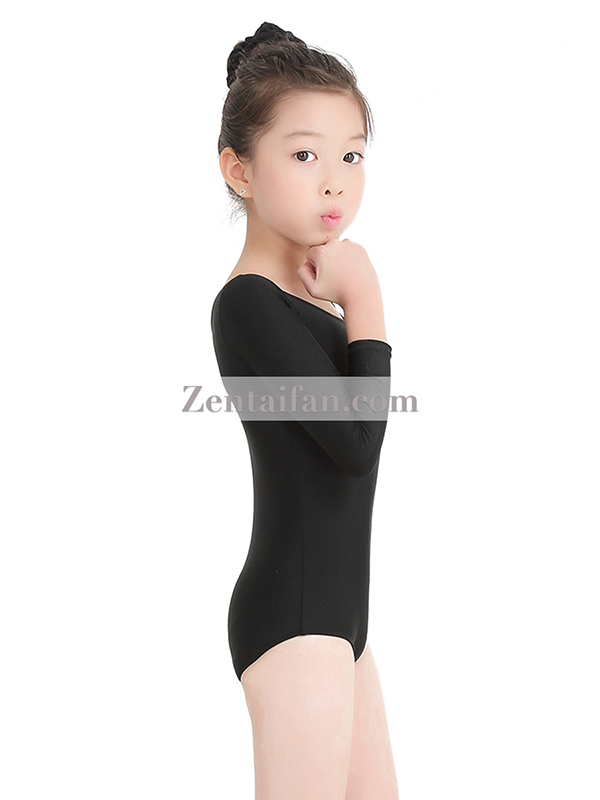 Kids Long Sleeve Spandx Zentai Leotard
