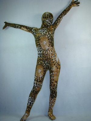 Leopard And Circle Pattern Fullbody Spandex Zentai Suit