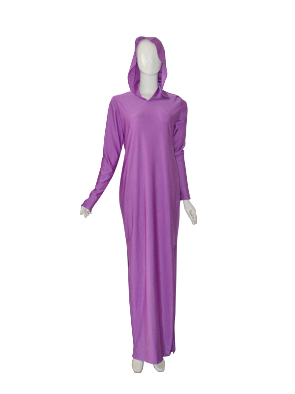 Light Purple Violet Long Gown with hood