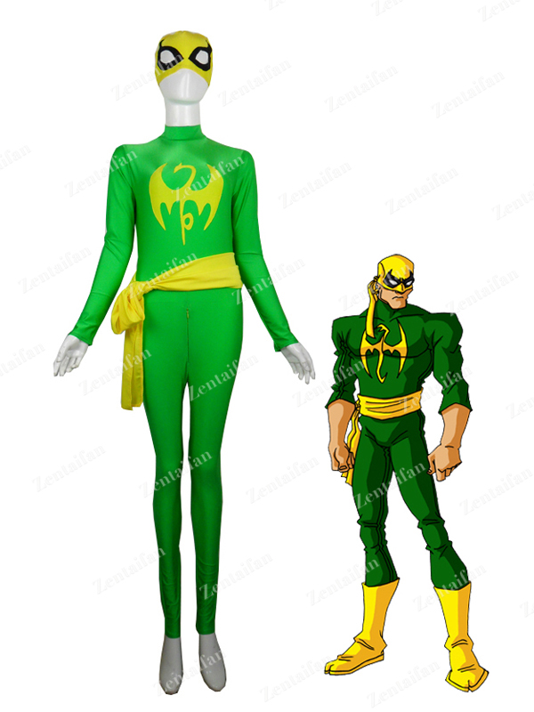 Marvel Comics Iron Fist Superhero Spandex Superhero Costume
