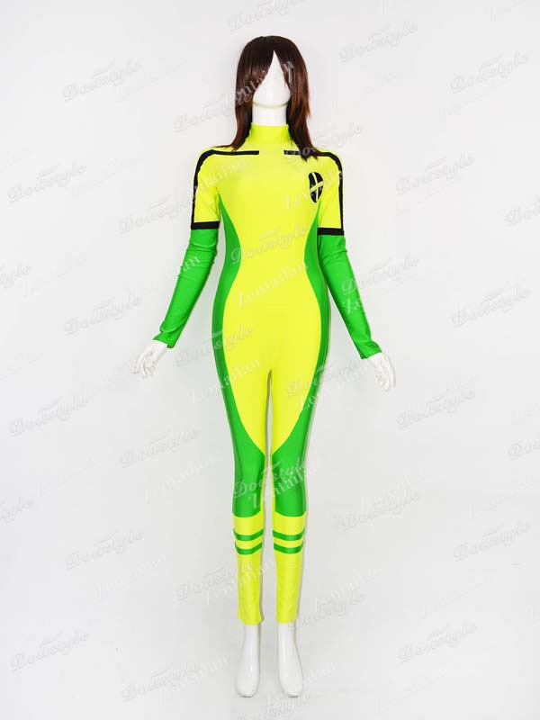 Marvel Comics X-Men Rogue Spandex Zentai Suit