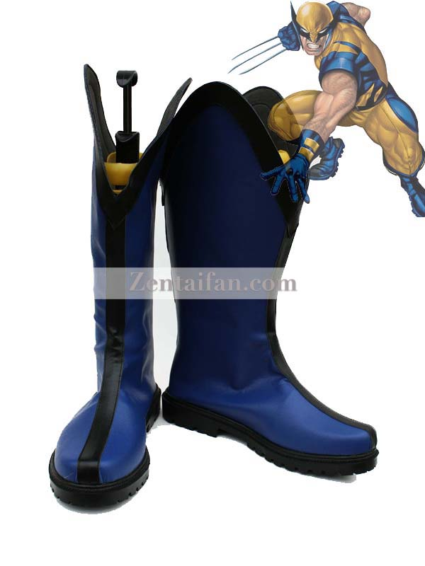 Marvel X-Men Wolverine Blue Cospaly Boots