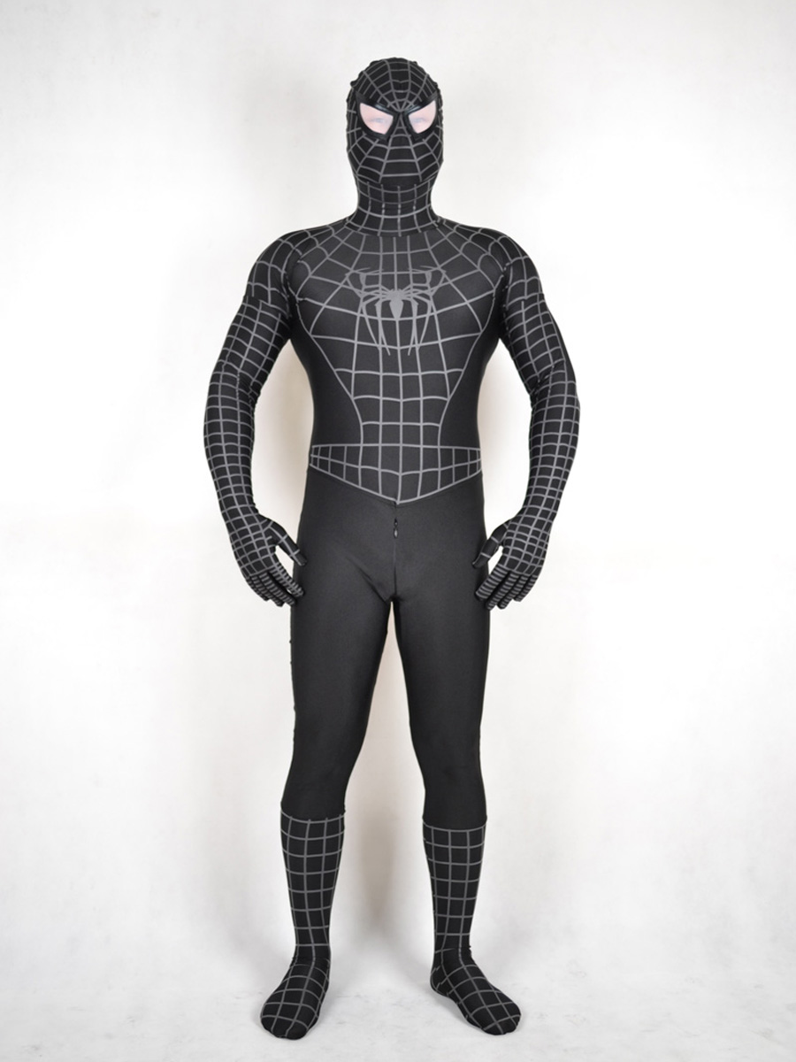 New Black and White Spiderman Costume