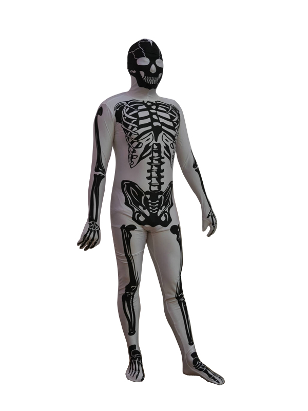 New Skeleton Lycra Spandex Zentai Suit