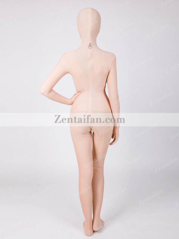 Open Eyes Flesh-color upgraded Spandex Full body Zentai suit