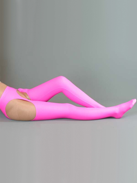 Pink Sexy Lycra Spandex Stockings