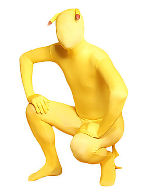 Pokemon Pikachu Cartoon Fullbody Lycra Animal Zentai Suit