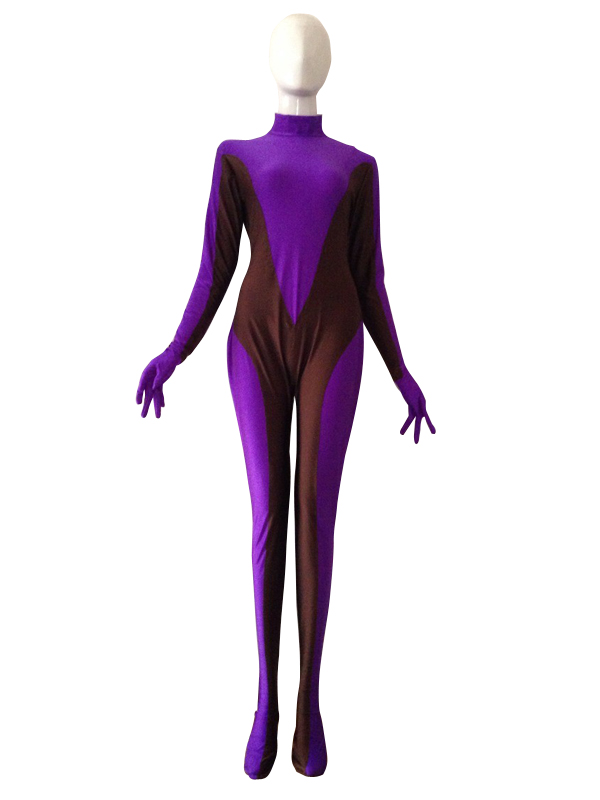 Purple & Brown Spandex Custom Superhero Costume