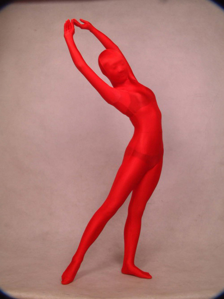 Red Full Body Lycra Spandex Zentai Suit