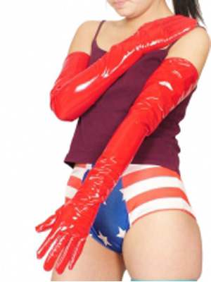 Red Sexy PVC Gloves