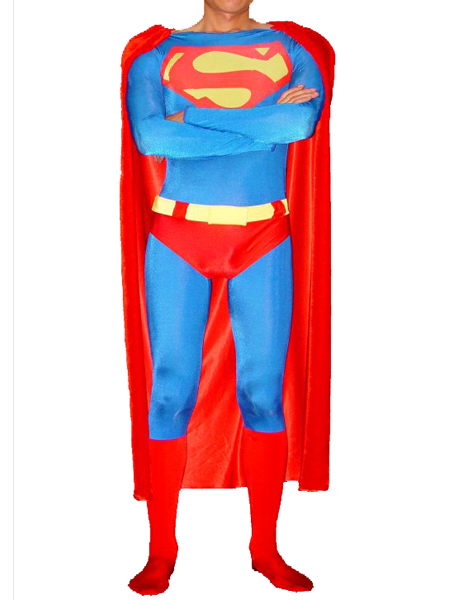 Red Superman Superhero Lycra Spandex Suit