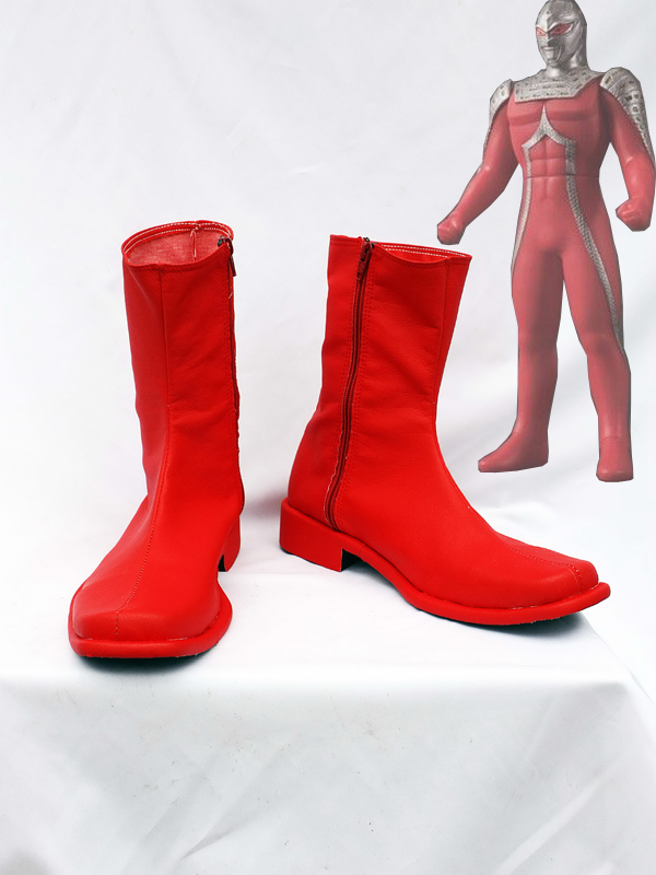 Red Ultraman UItra Seven X Cosplay Boots