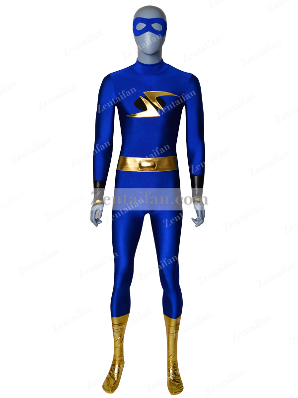 Royal Blue & Gold Custom Spandex Suit