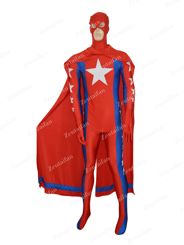 Royal Blue & Red Statesman Custom Powerful Superhero Costume