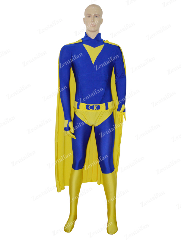 Royal Blue & Yellow CK Custom Superhero Costume