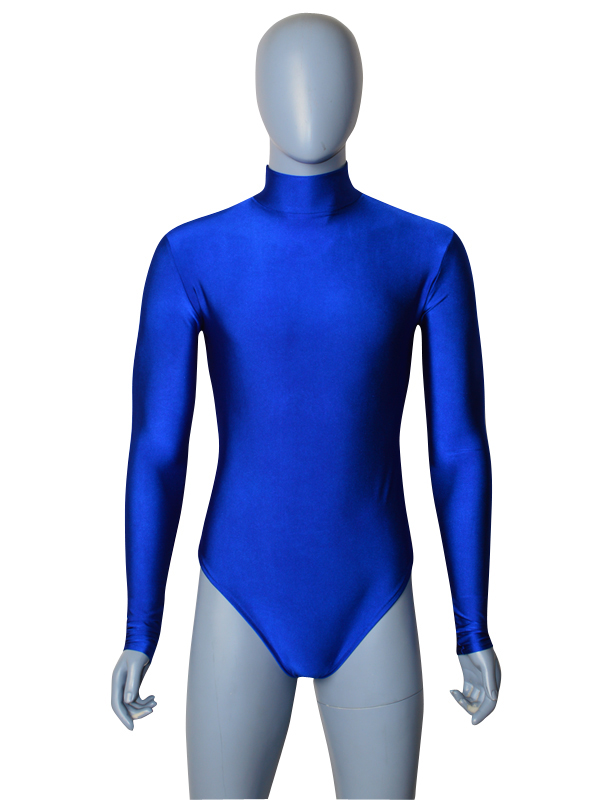 Royal blue male Spandex Zentai Leotards