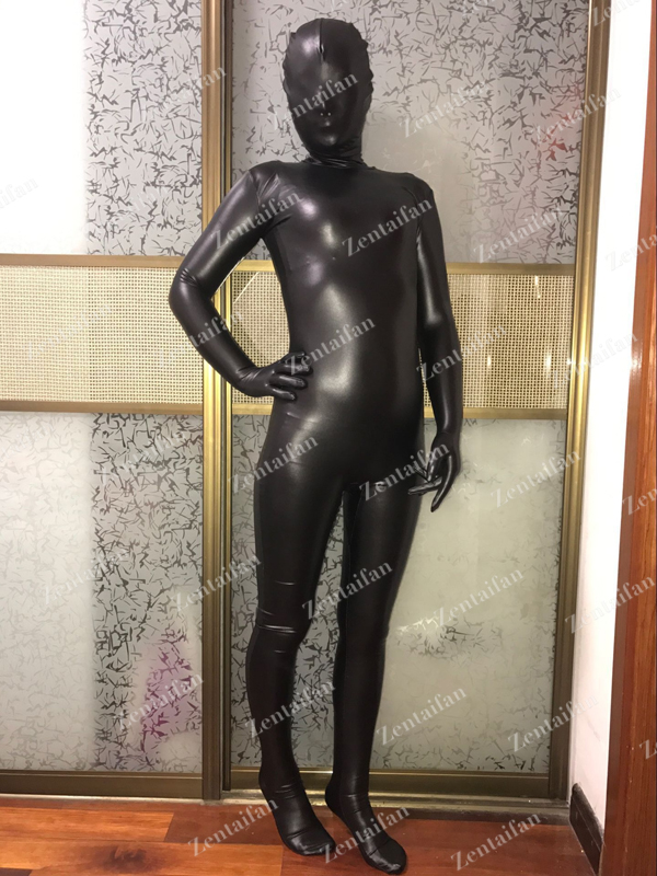 Sexy Fullbody Black Elastic PVC Suit