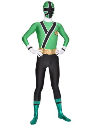 Shinkenger Costume - Green Power Rangers Superhero Costume