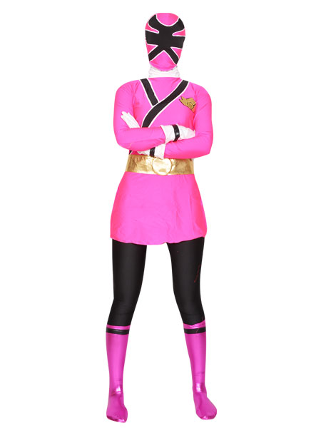 Shinkenger Costume - Pink Power Rangers Superhero Costume