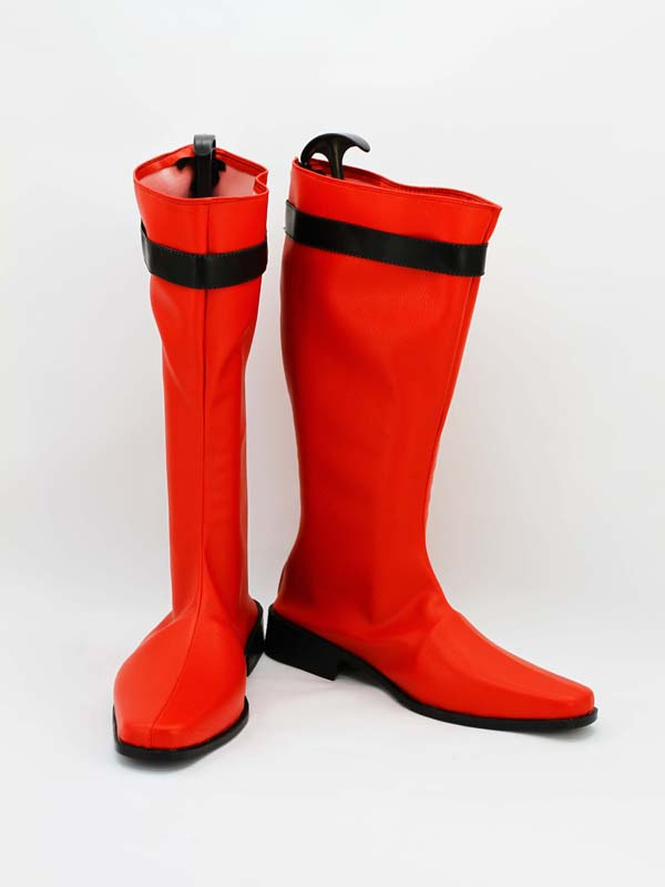 Shinkenger Red Power Ranger Cosplay Boots