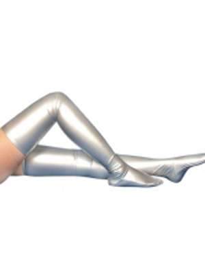 Silver Shiny Metallic Sexy Stockings