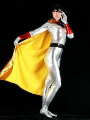 Space Ghost Shiny Metallic Zentai Catsuit