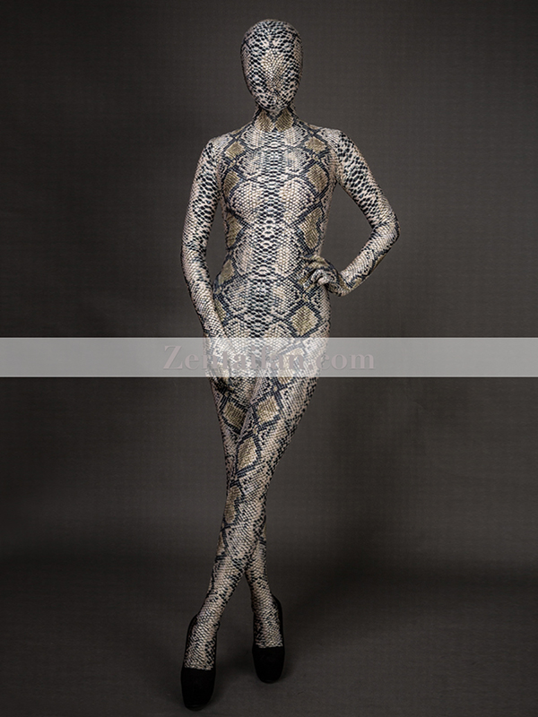 Snakeskin Animal Zentai Spandex Suit