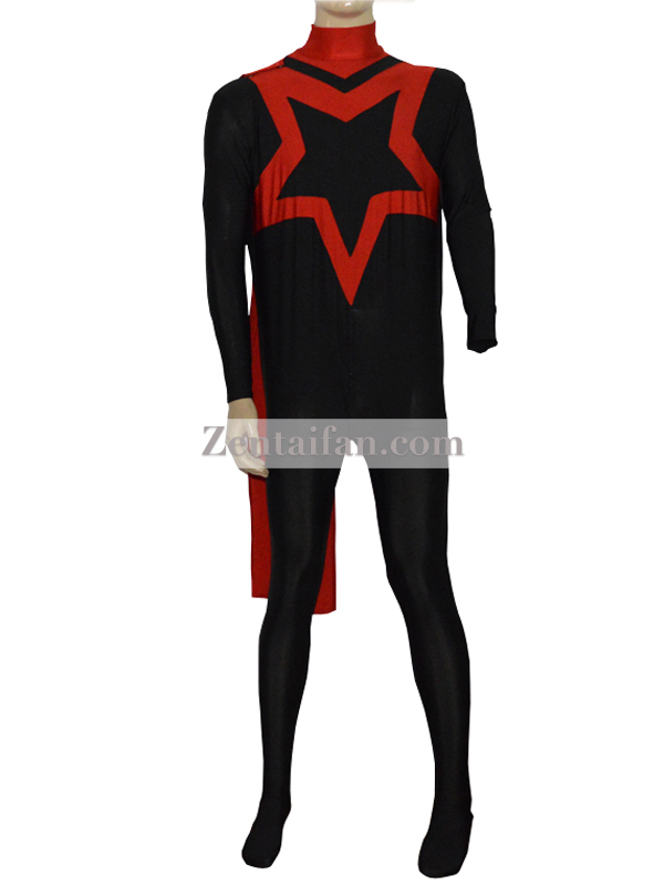 Star Mens Spandex Superhero Suit