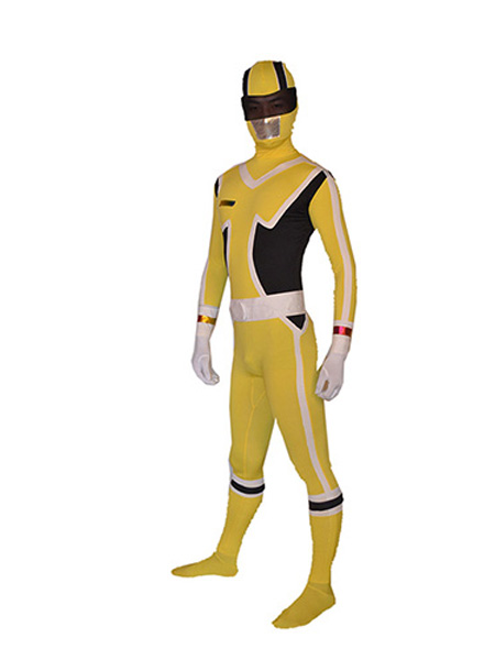 Super Sentai Series Yellow Ranger Superhero Costume