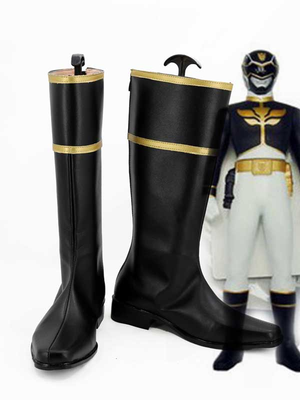 Tensou Sentai Goseiger Gosei Black Agri Cosplay Shoes
