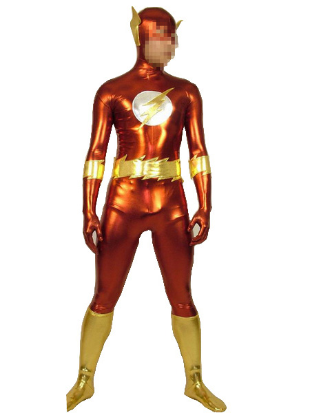 The Flash Shiny Metallic Zentai Superhero Suit