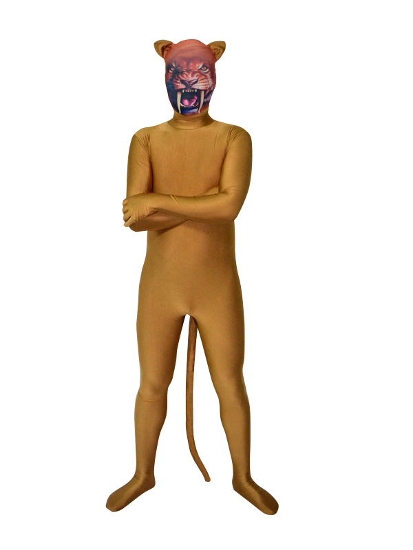 Tiger Mask Brown Color Fullbody Zentai Suit