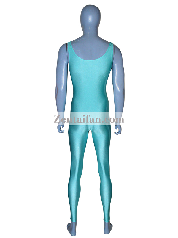 Unicolor Light Blue Sexy Zentai Suit