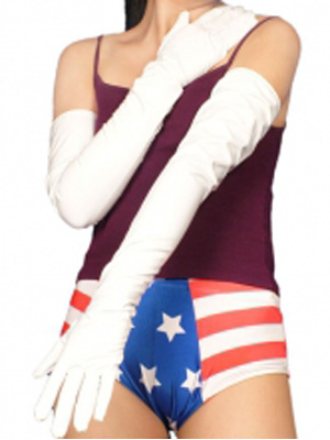 White Sexy PVC Gloves