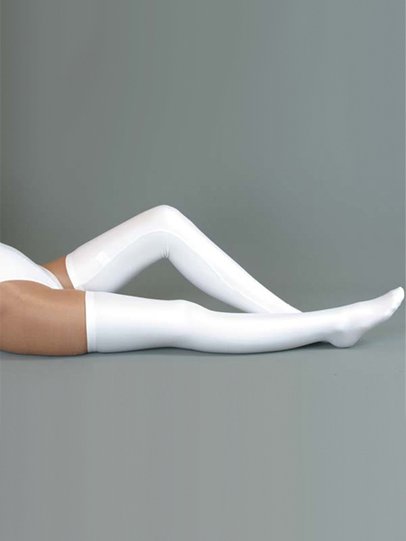 White lycra spandex Stockings