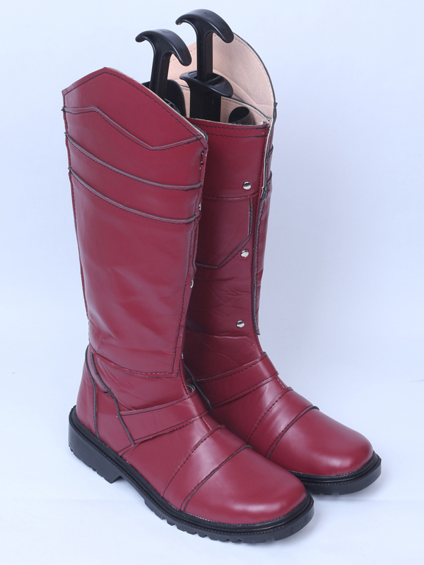 X-Men: Days of Future Past Magneto Dark Red Cosplay Superhero Boots