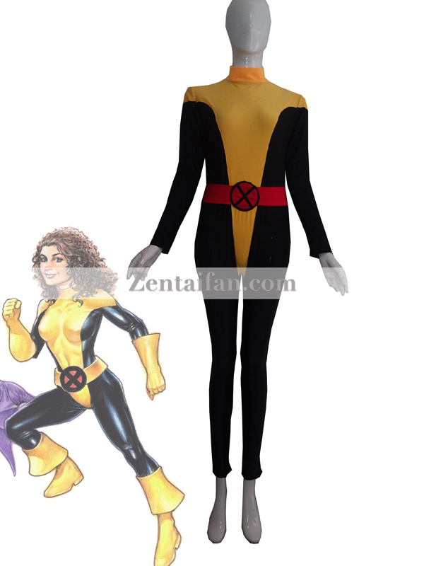 X-Men Kitty Pryde Black & Yellow Spandex Zentai Suit