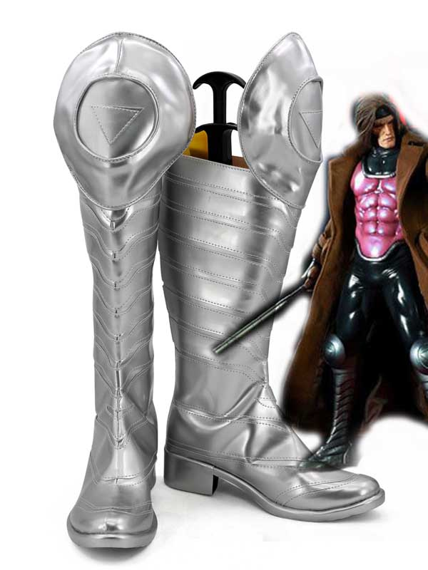 X-men Gambit Sliver Mens Cosplay Boots