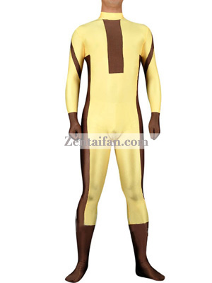 Yellow And Brown Unisex Superhero Costume