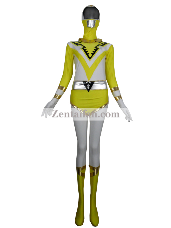 Yellow Jetman Power Ranger Superhero Costume