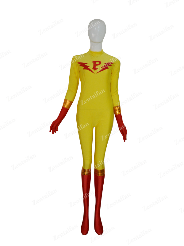 Yellow & Red Custom New Style Zentai Costume