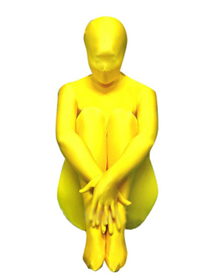 Yellow Shiny Lycra Unisex Full body Zentai Suit