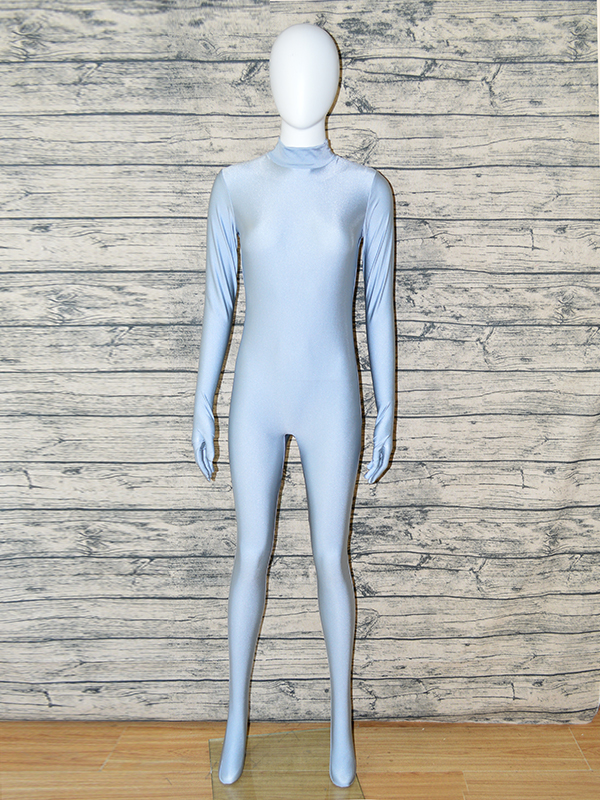 Zentaifan Light Grey Unisex Lycra Full Body Zentai Suit