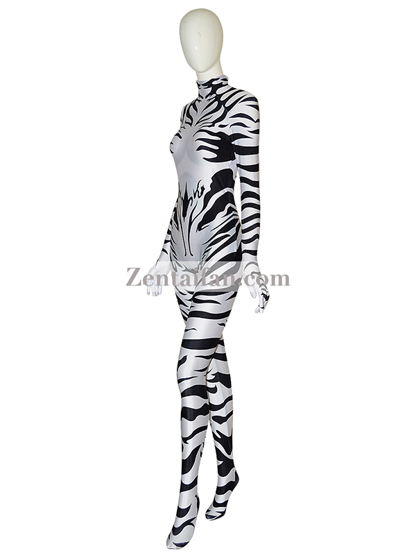 Animal Suit Sexy Fullbody Zebra Suit Animal Zentai